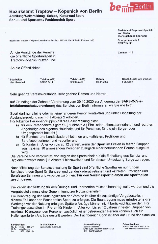 """SARS-CoV-2-Infektionsschutzverordnung vom 29.10.2020 ( """"Lockdown Light"""")."""